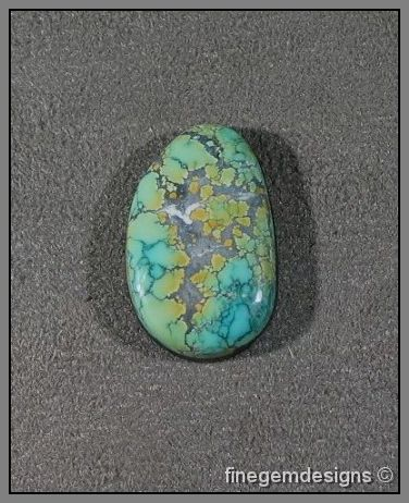 Chinese Dragon Skin Turquoise Cabochon